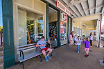 Families shop on the Oxford Square. Photo by Robert Jordan/Ole Miss Communications