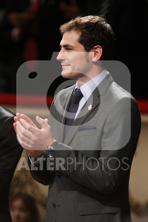 OVIEDO, Spain (22/10/2010).-  Prince of Asturias Awards 2010 Ceremony. Iker Casillas...Photo: POOL / Robert Smith  / ALFAQUI