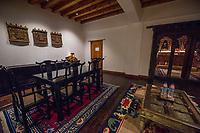 Bhutan, Paro, rooms at Zhiwa Ling Hotel.