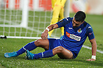 Getafe CF's Angel Rodriguez dejected during UEFA Europa League match. December 12,2019. (ALTERPHOTOS/Acero)
