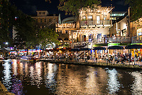 We captured this image after dark on the San Antonio river walk across from a restaurant called Rio Rio with tourist enjoying a meal along the river.  It is just one of the many SA restaurants along the water front to enjoy a meal and ambiance in this city.