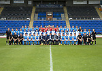St Johnstone FC Season 2017-18 Photocall<br />Pictured back row from left, Blair Alston, Ally Gilchrist, Graham Cummins, Paul Paton, Liam Gordon, Ben MacKenzie, Alan Mannus, Zander Clark, Mark Hurst, Ross Sinclair, Jason Kerr, Joe Shuaghnessy, Liam Craig, Brian Easton, Murray Davidson and Alex Headrick Sports Scientist.<br />Middle row from left, Manny Fowler Kit Manager, Keith Watson, Chris Kane, Cameron Ballantyne, Euan O&rsquo;Reilly, Ciaran Brian, Jamie Mackenzie, Daniel Jardine, Cameron Thomson, Ben Quigley, Jack Wilson, Shaun Struthers, John Robertson, Jamie Docherty, Alistair McCann, Cameron Lumsden, Callum Hendry, Kyle McLean, Scott Tanser and Mel Stewart Physio.<br />Front row from left, Paul Mathers GK Coach, Tony Tompos Head Physio, Alastair Stevenson Youth Dev Mananger, David Wotherspoon, Craig Thomson, Aaron Comrie, Stefan Scougall, Steven Anderson Captain, Callum Davidson Assistant Manager, Sreve Brown Chairman,Tommy Wright Manager, Alan Storrar Team Sponsor, Alex Cleland Coach, Chris Millar Vice Captain, Michael O&rsquo;Halloran, Greg Hurst, Steven MacLean, Richie Foster, George Browning U20 GK Coach, Euan Peacock Chief Scout and <br />Picture by Graeme Hart.<br />Copyright Perthshire Picture Agency<br />Tel: 01738 623350  Mobile: 07990 594431