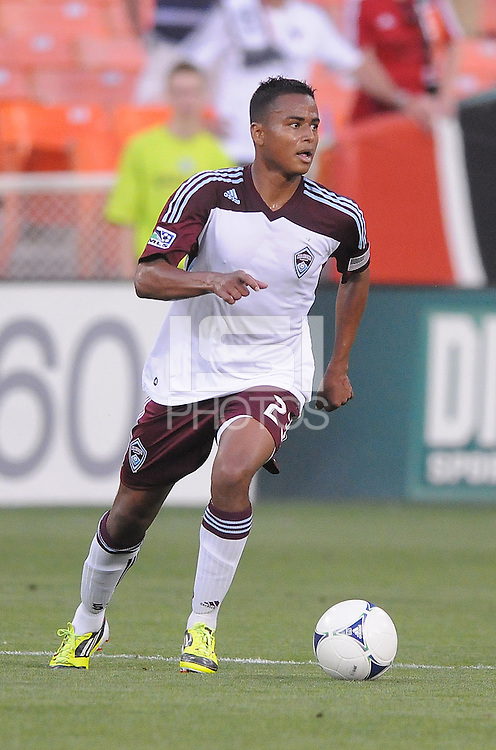 Colorado Rapids midfielder Jaime Castrillon (23) D.C. United defeated the Colorado Rapids 2-0 at RFK Stadium, Wednesday May 16, 2012.