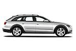 Passenger side profile view of a 2013 Audi A6 Allroad Quattro Wagon.