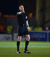Referee Scott Oldham<br /> <br /> Photographer Andrew Vaughan/CameraSport<br /> <br /> The EFL Sky Bet League Two - Lincoln City v Yeovil Town - Friday 8th March 2019 - Sincil Bank - Lincoln<br /> <br /> World Copyright © 2019 CameraSport. All rights reserved. 43 Linden Ave. Countesthorpe. Leicester. England. LE8 5PG - Tel: +44 (0) 116 277 4147 - admin@camerasport.com - www.camerasport.com