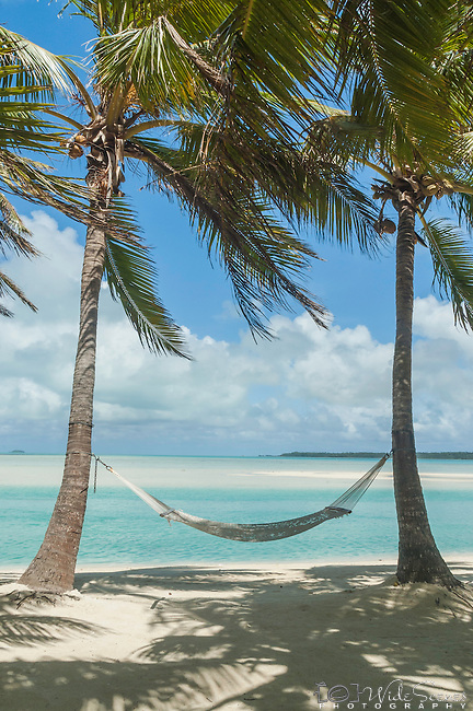 time to relax in a hammock at Aitutaki Lagoon Resort & Spa on Aitutaki, Cook Islands