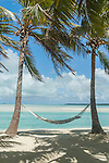 time to relax in a hammock at Aitutaki Lagoon Resort & Spa on Aitutaki, Cook Islands