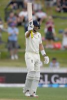 1st December 2019, Hamilton, New Zealand;  Test century for Joe Root as he recognizes the crowd. International test match cricket, New Zealand versus England at Seddon Park, Hamilton, New Zealand. Sunday 1 December 2019.