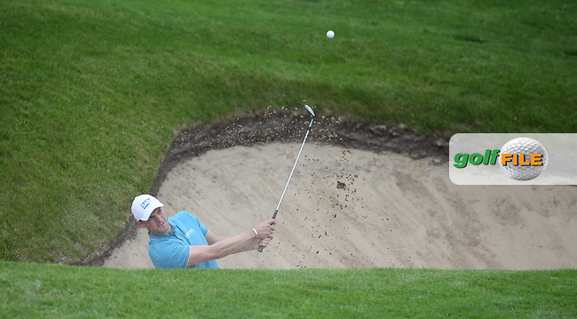 Martin Kaymer (GER) in the bunker on the last during Round Two of the 2015 BMW PGA Championship over the West Course at Wentworth, Virginia Water, London. 22/05/2015Picture David Lloyd, www.golffile.ie.
