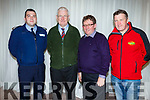Gda Shane O'Reilly, Liam Ryan (Tidy Tralee Together Committee), Brendan O'Brien (Committee) and Tadgh Healy (KWD) at the Tralee Tidy Towns awards in the Rose Hotel on Tuesday night.