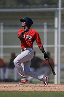 Boston Red Sox Joseph Monge (39) during a minor league spring training game against the Baltimore Orioles on March 18, 2015 at Buck O'Neil Complex in Sarasota, Florida.  (Mike Janes/Four Seam Images)