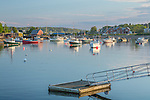 Fishing vessels in Mackerel Cove in Harpswell, Maine, USA