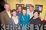 Enjoying the Abbeyfeale Coursing Social was l-r: Tim Dee, Karen Harnett, Paddy Fitzgerald, Tutsy Harnett, Garrett Harnett and Teresa Dee, pictured here last Saturday night in The GAA Pavillion, Abbeyfeale.