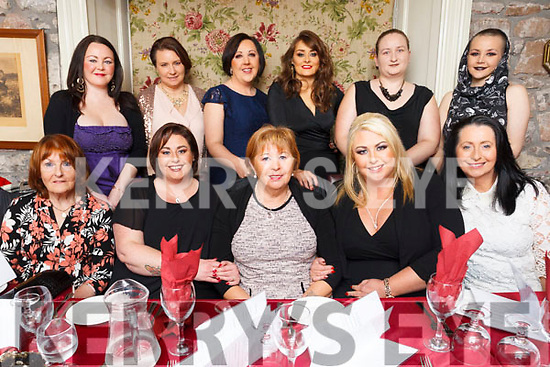 Double birthday celebrations in Cassidys as Mandy O&rsquo;Connor and Noelle Robb celebrate with family and friends. <br /> Front L-R Mary Kelly, Noelle Robb, Margaret O&rsquo;Connor, Mandy O&rsquo;Connor and Sarah Moynihan.<br /> Back L-R Sarah Blennerhasset, Suzy Cournane, Jacinta Quirke, Susan O&rsquo;Keeffe, Sharina Kemal and Rebecca Blennerhasset