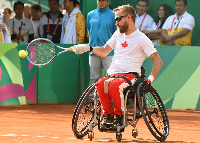 Rob Shaw competes in the wheelchair tennis  at the 2019 ParaPan American Games in Lima, Peru-230aug2019-Photo Scott Grant