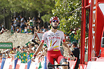 Jesus Herrada (ESP) Cofidis wins Stage 6 of La Vuelta 2019 running 198.9km from Mora de Rubielos to Ares del Maestrat, Spain. 29th August 2019.<br /> Picture: Luis Angel Gomez/Photogomezsport | Cyclefile<br /> <br /> All photos usage must carry mandatory copyright credit (© Cyclefile | Luis Angel Gomez/Photogomezsport)