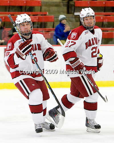 Ryan Grimshaw (Harvard - 6), Michael Biega (Harvard - 27) - The Harvard University Crimson defeated the Dartmouth College Big Green 4-1 (EN) on Monday, January 18, 2010, at Bright Hockey Center in Cambridge, Massachusetts.