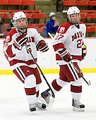 Ryan Grimshaw (Harvard - 6), Michael Biega (Harvard - 27) - The Harvard University Crimson defeated the Dartmouth College Big Green 4-1 (EN) on Monday, January 18, 2010, at Bright Hockey Center in Cambridge, Massachusetts.