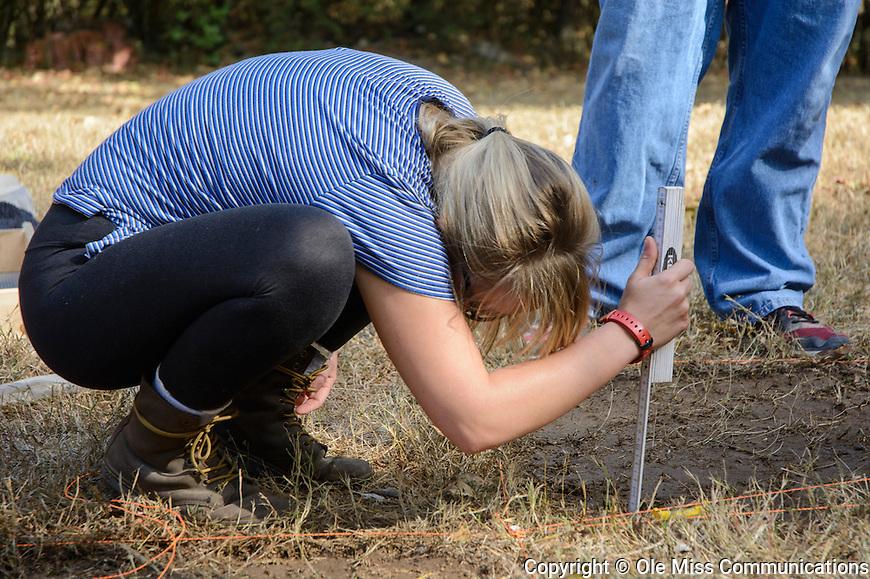 Fieldwork Rowan Oak. October 12, 2016. Photo by Marlee Crawford/Ole Miss Communications