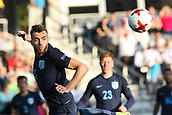 June 19th 2017, Kielce, Poland; UEFA European U-21 football championships, England versus Slovakia; Calum Chambers (ENG) with a powerful header clearance