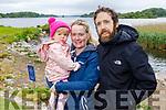 Orla, Fiadh and Anthony O'Sullivan enjoying a stroll in the National Park Killarney on Sunday morning.