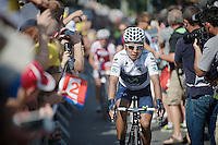 Nairo Quintana (COL) coming into the top 5 of the GC after today's stage<br /> <br /> Tour de France 2013<br /> stage 16: Vaison-la-Romaine to Gap, 168km