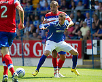 St Johnstone v Rangers... 30.07.11   SPL Week 2.Marcus Haber and Madiif Bougherra.Picture by Graeme Hart..Copyright Perthshire Picture Agency.Tel: 01738 623350  Mobile: 07990 594431