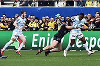 Virimi Vakatawa of Racing during the Champions Cup match between ASM Clermont and Racing 92 on April 1, 2018 in Clermont, France. (Photo by Alexandre Dimou/Icon Sport)
