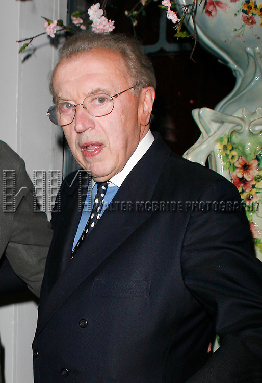 David Frost<br /> attending for the Opening Night after party for FROST NIXON at Tavern On The Green Restaurant in New York City.<br /> April 22, 2007