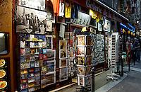 Art poster shop in the Latin quarter. Paris, France