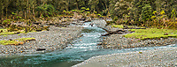 Pristine Jackson River, West Coast, South Westland, UNESCO World Heritage Area, New Zealand, NZ