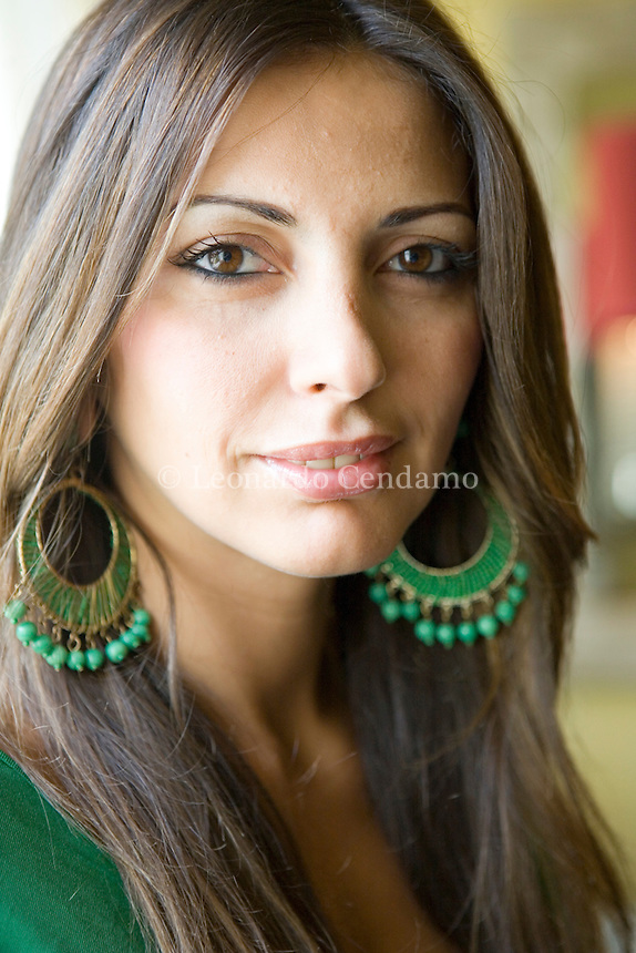 Milan, Italy, 2007. Michelle Nouri, writer and journalist. Born In Prague to a Czech mother and an Iraqi father. She's the author of 'La ragazza di Baghdad', published in Italy by Rizzoli.