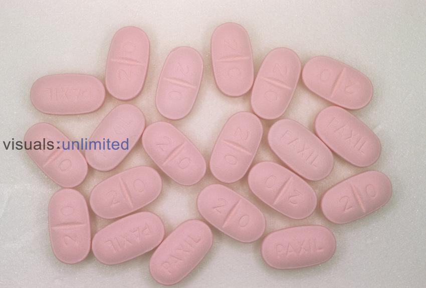 Paxil pills, an antidepressant drug.