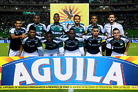 PALMIRA - COLOMBIA - 31 - 03 - 2018: Los jugadores de Deportivo Cali, posan para una foto, durante partido entre Deportivo Cali y el Independiente Santa Fe, de la fecha 12 por la liga Aguila I 2018, jugado en el estadio Deportivo Cali (Palmaseca) en la ciudad de Palmira. / The players of Deportivo Cali, pose for a photo, during a match between Deportivo Cali and Independiente Santa Fe, of the 12th date for the Liga Aguila I 2018, at the Deportivo Cali (Palmaseca) stadium in Palmira city. Photo: VizzorImage  / Nelson Rios / Cont.