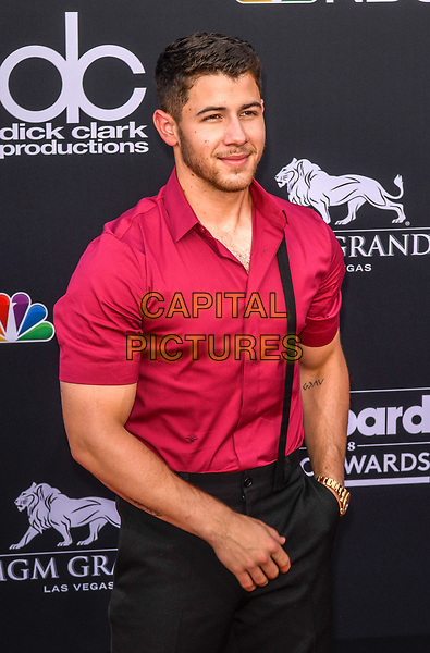 LAS VEGAS, NV - MAY 20: Nick Jonas at the 2018 Billboard Music Awards at the MGM Grand Garden Arena in Las Vegas, Nevada on May 20, 2018. <br /> CAP/MPI/DAM<br /> &copy;DAM/MPI/Capital Pictures