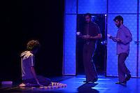 """BOGOTÁ-COLOMBIA-16-04-2014. Ensayo de la obra """"Amores Sordos"""" en el género Teatro Contemporáneo de la Compañía Espanca!, Brasil, realizado en el Teatro Gilberto Alzate Avendaño de Bogotá y que forma parte de la programación del XIV Festival Iberoamericano de Teatro de Bogotá 2014./  Reherseal of the Play """"Amores Sordos"""" gender Contemporary theater of the company Espanca!, Brazil, performed at Gilberto Alzate Avendaño theatre of Bogota as a part of  schedule of the XIV Ibero-American Theater Festival of Bogota 2014.  Photo: VizzorImage/ Gabriel Aponte /Staff"""