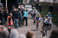 peloton passing by<br /> <br /> 81st Gent-Wevelgem in Flanders Fields (1.UWT)<br /> Deinze &gt; Wevelgem (251km)