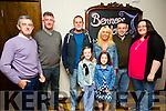 Front l-r Ciara Drummey and Amy Scanlon.Back l-r Christy Counihan, Tom Sayers, Dave Scanlon, Lorraine Scanlon, John Joy and Grainne Joy  enjoying the An Post BBQ in Benners Courtyard on Saturday