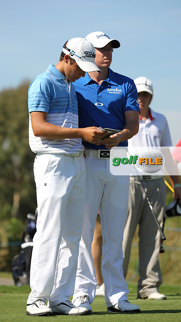 Rory McIlroy (NIR) playing with German Dominic Foos (AM) who plays off plus 4 during the pro-am at the Turkish Airlines World Golf Final in Antalya Golf Club, Antalya, Turkey..Picture: Fran Caffrey/www.golffile.ie.