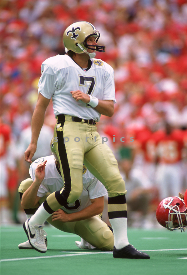 New Orleans Saints Morten Andersen (7) during game from his career with the New Orleans Saints. Morten Andersen played for 25 season with 5 different teams and was an 7-time Pro Bowler.