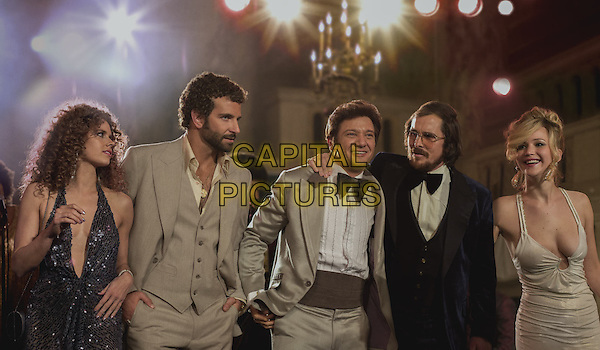 Amy Adams, Bradley Cooper, Christian Bale, Jennifer Lawrence, Jeremy Renner<br /> in American Hustle (2013) <br /> *Filmstill - Editorial Use Only*<br /> CAP/NFS<br /> Image supplied by Capital Pictures