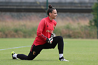 20200605 - TUBIZE , Belgium : Goal keeper Nicky Evrard pictured during a training session of the Belgian national women's soccer team called the Red Flames during their after Corona – Covid training week, on the 5 th of June 2020 in Tubize.  PHOTO SEVIL OKTEM| SPORTPIX.BE