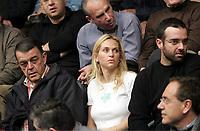 Minos Kyriakou (L) with wife Mari Konstantatou (C). STOCK PICTURE
