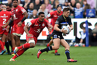 Darren Atkins of Bath Rugby goes on the attack. Heineken Champions Cup match, between Bath Rugby and Stade Toulousain on October 13, 2018 at the Recreation Ground in Bath, England. Photo by: Patrick Khachfe / Onside Images