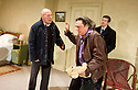 Haunting Julia by Alan Ayckbourn directed by Andrew Hall. With Christopher Timothy as Joe, Dominic Hecht as Andy [tie], Richard O'Callaghan as Kent [brown leather jacket]  . Opens at The Riverside Studios on 27/5/11 . CREDIT Geraint Lewis
