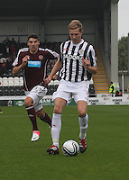 Marc McAusland in the St Mirren v Heart of Midlothian Clydesdale Bank Scottish Premier League match played at St Mirren Park, Paisley on 15.9.12.