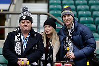 16th November 2019; Twickenham, London, England; International Rugby, Barbarians versus Fiji; Barbarians fans pose inside Twickenham Stadium - Editorial Use