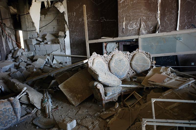 Tripoli, Libya, August 26, 2011.Rebels in Khaddafi's Bab Aziziya compound..