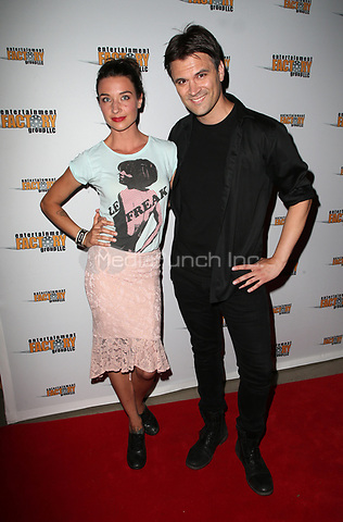"HOLLYWOOD, CA July 06- Cortney Palm, Kash Hovey, At Screening Of Entertainment Factory's ""Garlic And Gunpowder"" at The TCL Chinese 6 Theatres, California on July 06, 2017. Credit: Faye Sadou/MediaPunch"