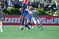 Boston, MA - Saturday June 24, 2017: Natasha Dowie and Samantha Mewis during a regular season National Women's Soccer League (NWSL) match between the Boston Breakers and the North Carolina Courage at Jordan Field.
